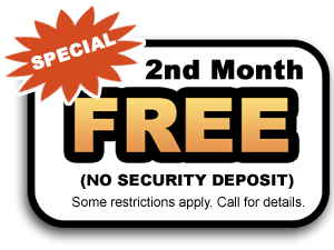 2nd month free coupon Ryder Mini Storage in Anderson SC